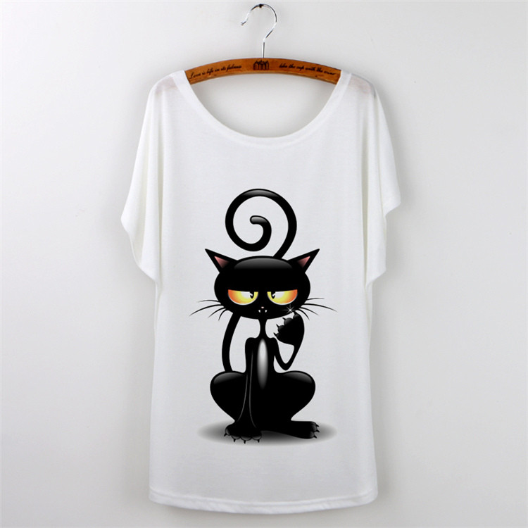 Casual Women Cat T-shirt