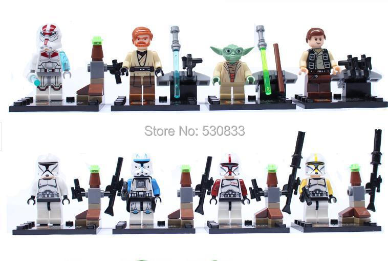 Super Heroes Star Warswhite blue clone troopers Action Minifigure Building Blocks SY195 Classic Toys Compatible Lego, T12 - factory LEGOtoys store