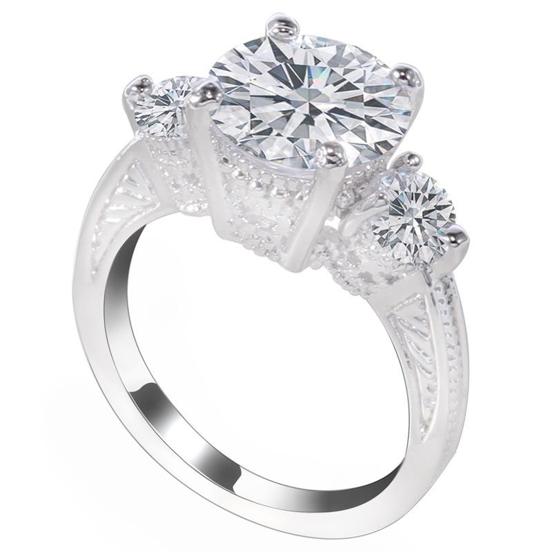 2016 new high quality 18 K Gold Plated Black CZ Ring Fashion Wedding Engagement Ring Jewelry Wedding Gift Free Shipping(China (Mainland))