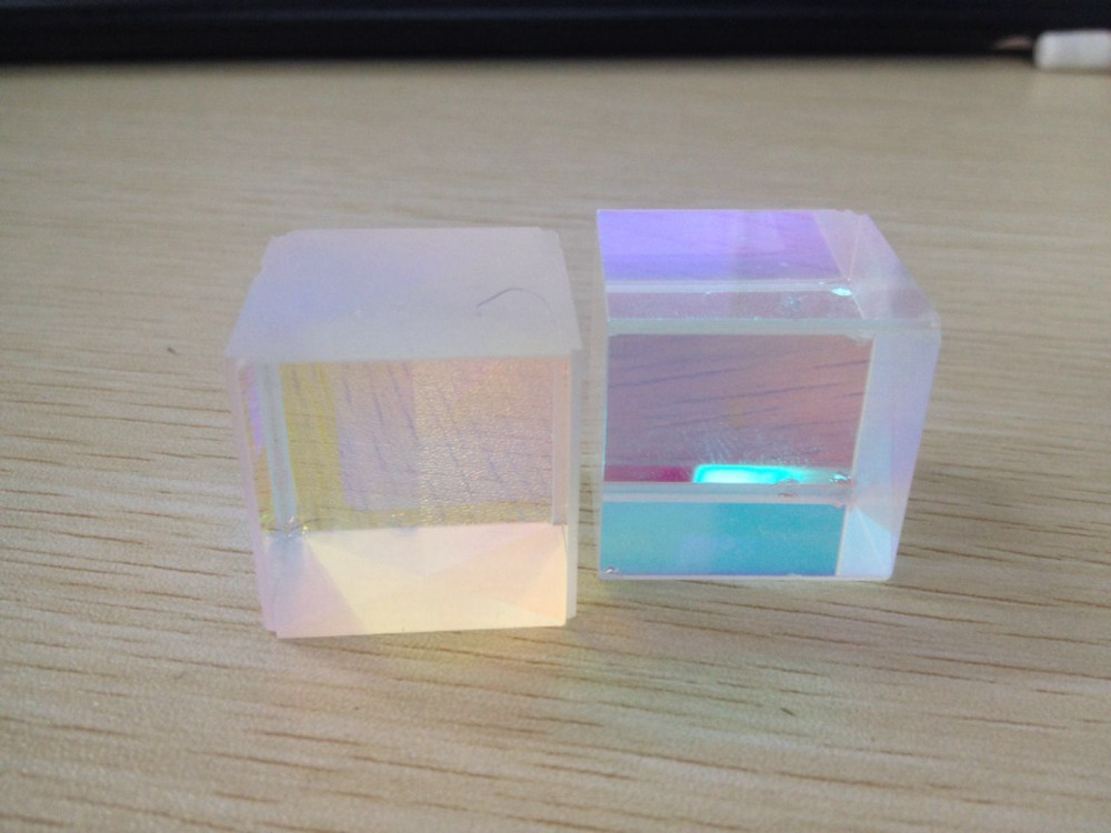 Educational Prisms Defective Cross Dichroic X-Cube Cube Glass Prism RGB Combiner Decoration Glass(China (Mainland))