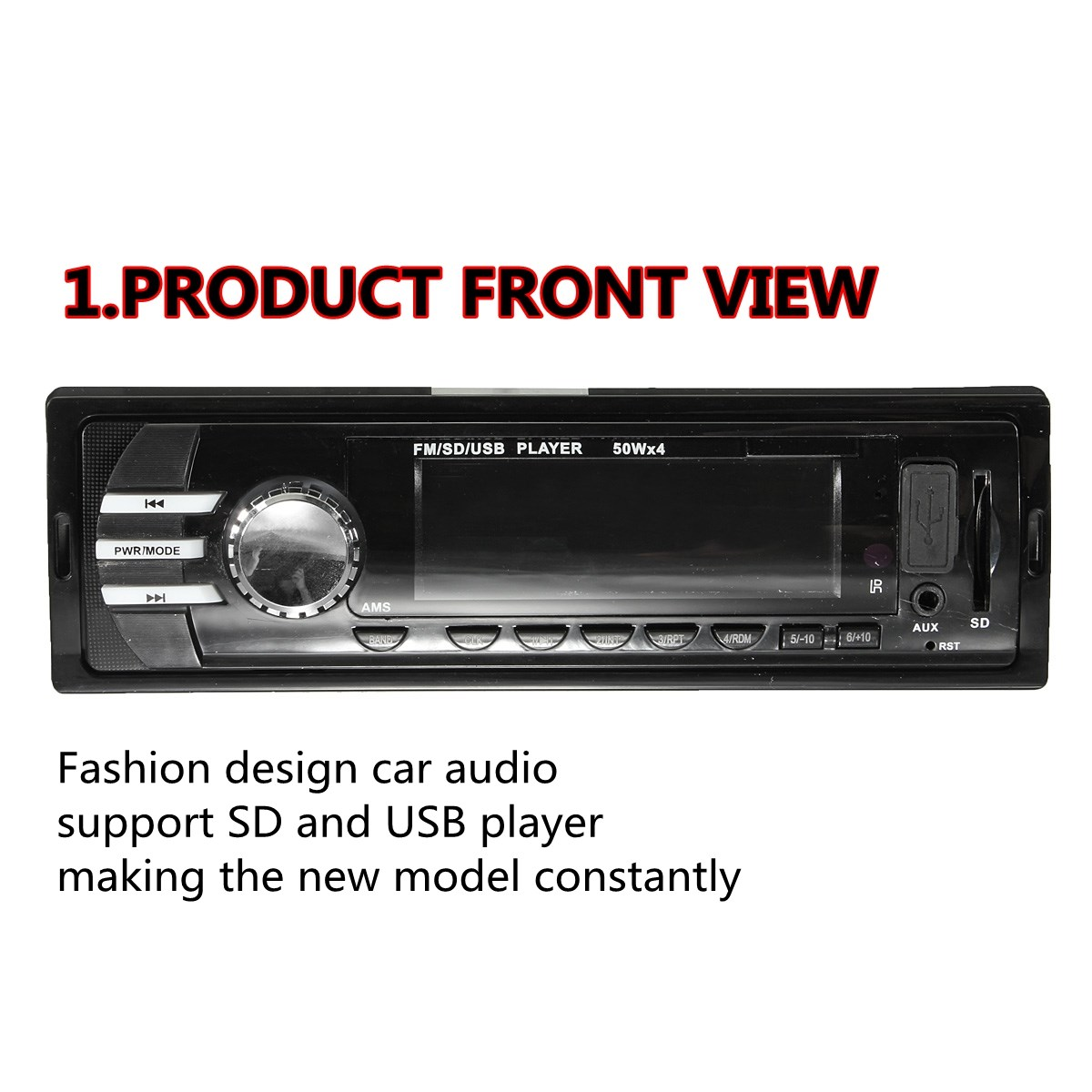 CAR STEREO RADIO IN DASH FM AUX INPUT RECEIVER MP3 RADIO PLAYER WITH SD USB NEW