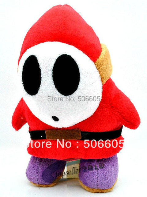 "free shipping Super Mario Bros Plush Toy Soft Stuffed Animal Shy Guy Figure Doll 6"" inch 15cm retail"
