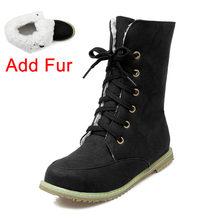 Doratasia Mới Trang Sức Giọt Lớn Kích Thước 30-52 Thoải Mái Dây Giày Retro Nga Giày Nữ Giày Nữ Thêm Sang Trọng Mùa Đông Giày Người Phụ Nữ giày(China)