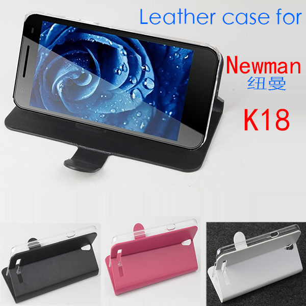 free shipping Newman K18 case cover, Good Quality Leather Case+ hard Back cover For Newman K18 cellphone(China (Mainland))
