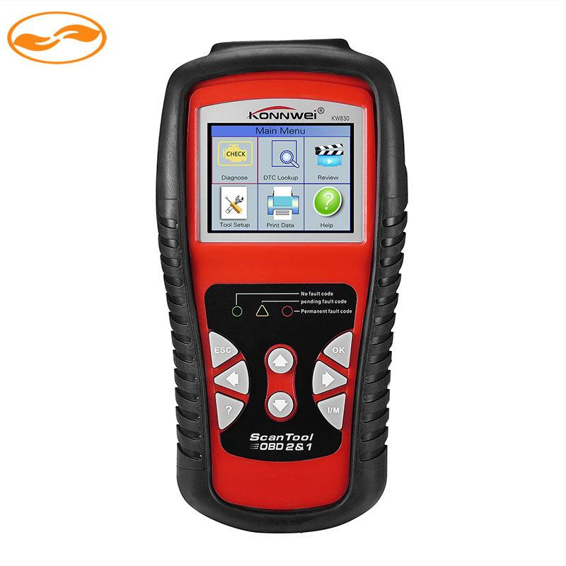 Wholesale 10Sets/Lot KW830 AL519 OBD2 EOBD Car Fault Code Reader Scanner Automotive Diagnostic Scan Tool Can Test Battery(China (Mainland))