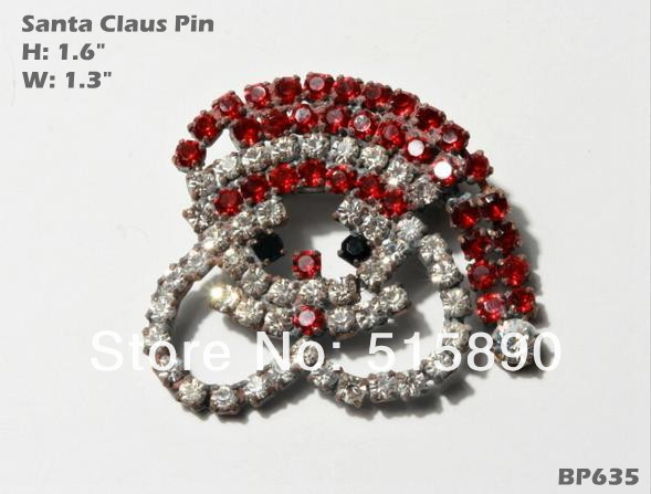 Brooch Red Hat Santa 100% Brand New Unique Pageant Wedding Pin BP635