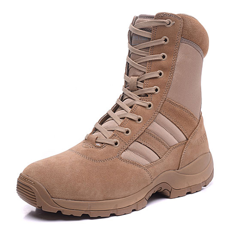 v1979.com Military Tactical Combat Outdoor Sport Army Men Boots Desert Botas Hiking Autumn Shoes Travel Leather High Boots Male(China (Mainland))