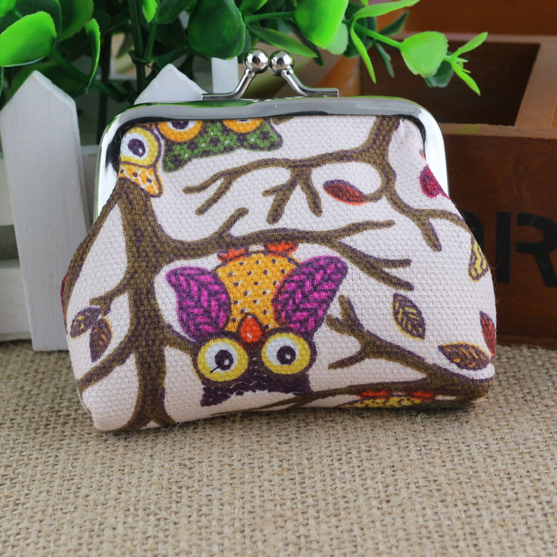 New Gold Band Women Handbags Lovely Style women's wallets Lady Small Wallet Hasp Owl Purse Clutch Bag monedero desigueal mujer(China (Mainland))