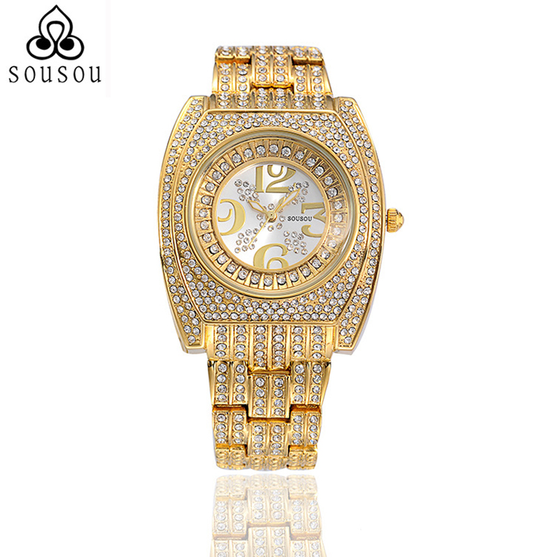 2016 Womens Designer Watches Luxury Brand Watch Women Gold Relojes De Marca Relogio Feminino Dourado Fashions Strass - YiWu DreamShow Import&Export Co.,Ltd store