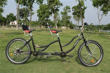 6 Speeds High Carbon Steel Tandem Bike,Both Disc Brakes,Top Derailleur,High Quality(China (Mainland))