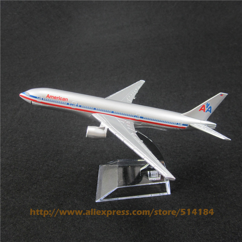 16cm Alloy Metal Air American AA Airlines Boeing 777 B777 Airways Plane Model Aircraft Airplane Model w Stand Toy Gift(China (Mainland))