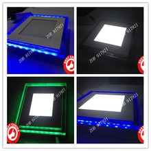 15w 1600lm Square Acrylic material Mini Led panel Light Colorful  thin third section light color control bule/gree+white 3PCS(China (Mainland))