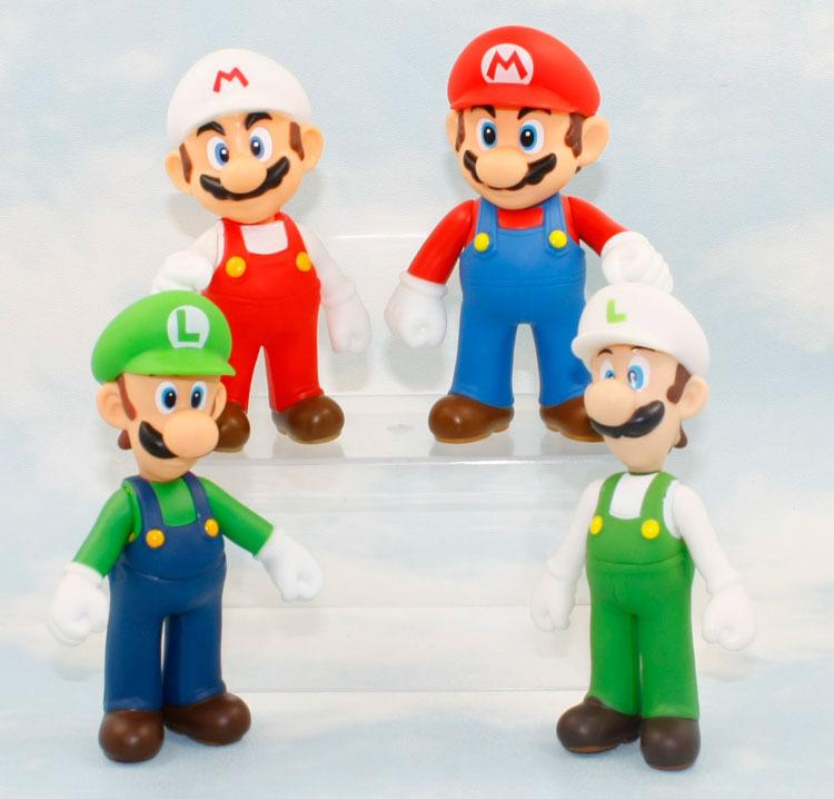 12cm EMS 120pcs/lot Super Mario Bros dolls Luigi Mario Action Figures Toys Doll classic toy anime kids  gift free shipping