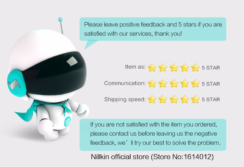 NILLKIN Bluetooth speaker Music surround speaker with led lamp suitable for home office hotel traveling for xiaomi for samsung