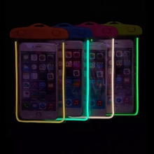 Universal Luminous Waterproof Bag For Samsung Galaxy S3 S4 S5 Mini S6 A3 A5 A7 E5 E7 NOTE Drift Swimming Diving Pouch