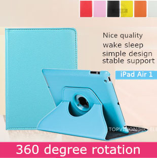 Nice stand leather smart case ipad air 1 cover apple ipad air case 360 rotating iPad 5 bling protective skin