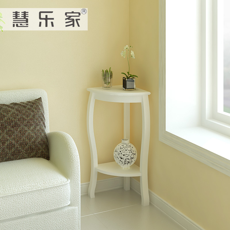 Hui roca korean garden corner living room side table white - Corner tables for living room online india ...