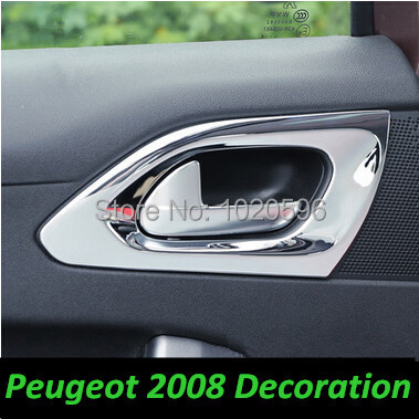 for 2014 2015 peugeot 2008 208 accessories styling front and rear door handle decoration sticker. Black Bedroom Furniture Sets. Home Design Ideas