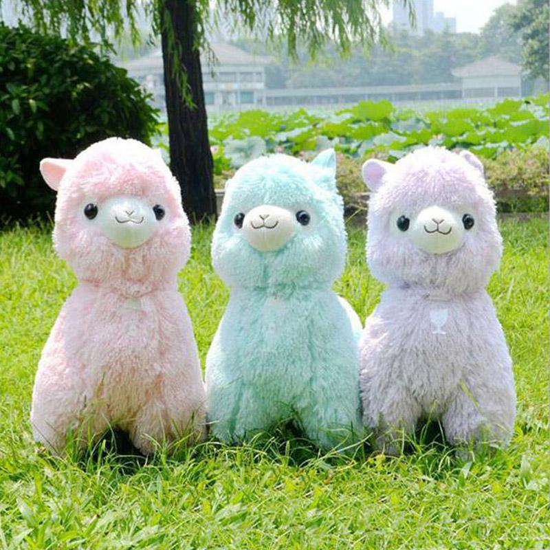45cm/18'' New Alpaca Plush Toys Adora Doll Vicugna Pacos Arpakasso 5 colors soft cute animal toy Sheep stuffed bicho de pelucia(China (Mainland))