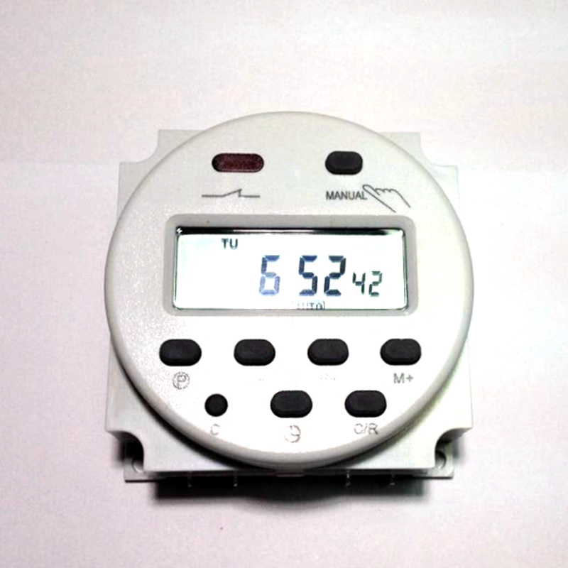 AC 110V Round Digital LCD Power Programmable Timer Time Relay Switch CN101A - KETOO Technology Co.,LTD store