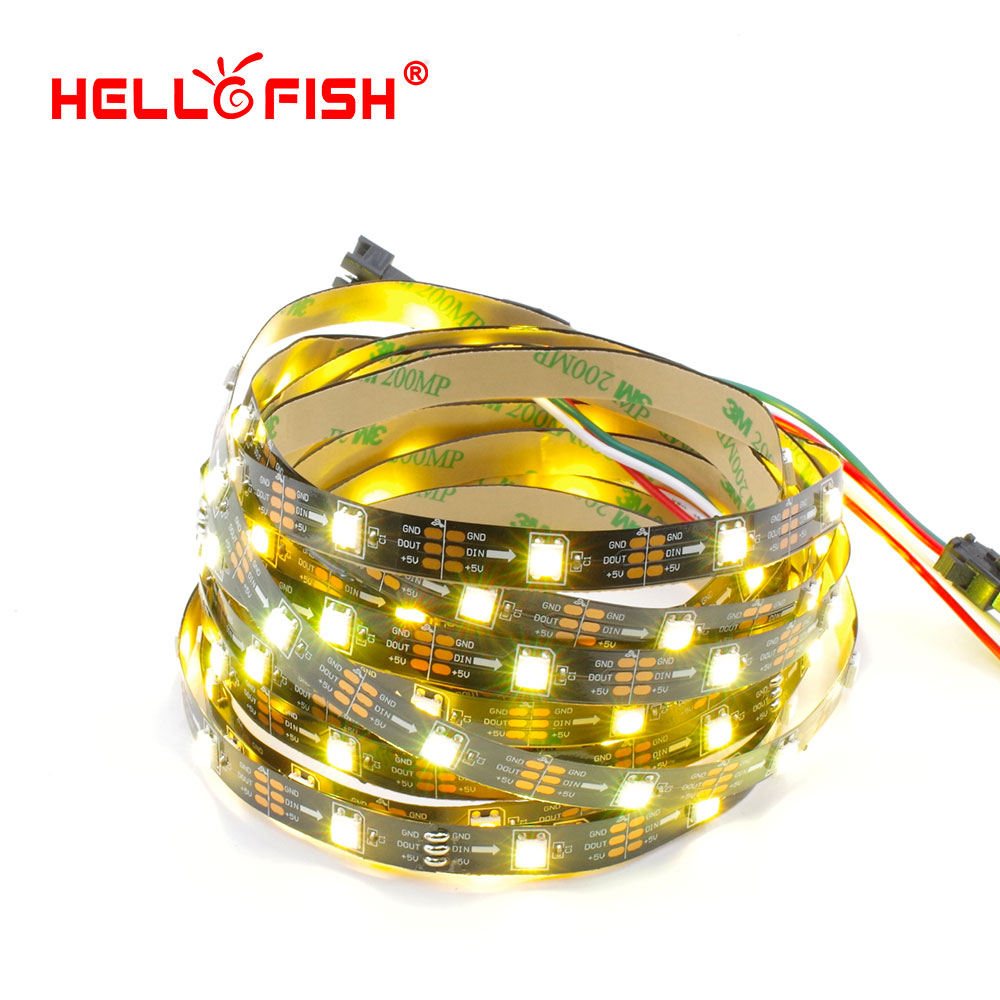 HELLO FISH 5M Built-in WS2812B Full Color LED strip,150 LED 150 pixels, Raspberry Pi Pixel matrix Display Arduino DIY led strip(China (Mainland))