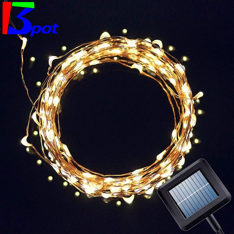Solar Holiday LED Garlands String Lights 5M 50 Led Solar Copper Wire Light Ou