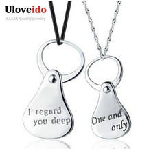 Lovers Pendant Necklace with Letter Unusual Gifts for Women Chains Cheap Fashion Jewelry Best Friends Pendants Sale Ulove N696(China (Mainland))
