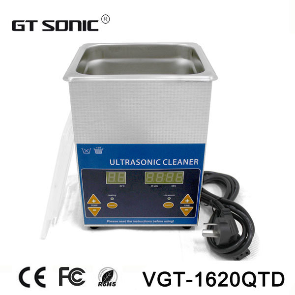 2L polishing metals ultrasonic cleaner heated with digital control, with free cleaning basket VGT-1620QTD(China (Mainland))