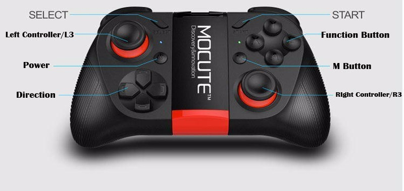 image for MOCUTE Wireless Gamepad Bluetooth 3.0 Game Controller Joystick For Iph