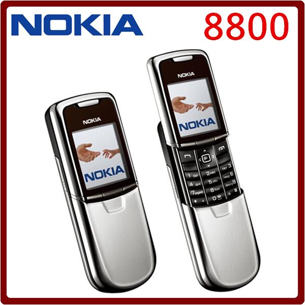Original Nokia 8800 Mobile Phone English / Russian keyboard GSM FM Bluetooth Phone Gold Silver Black One year warranty(China (Mainland))