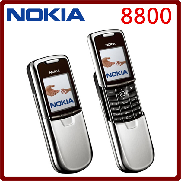 Original Nokia 8800 Mobile Phone English / Russian keyboard GSM FM Bluetooth Phone Gold Silver Black One year warranty(China (Mainland))