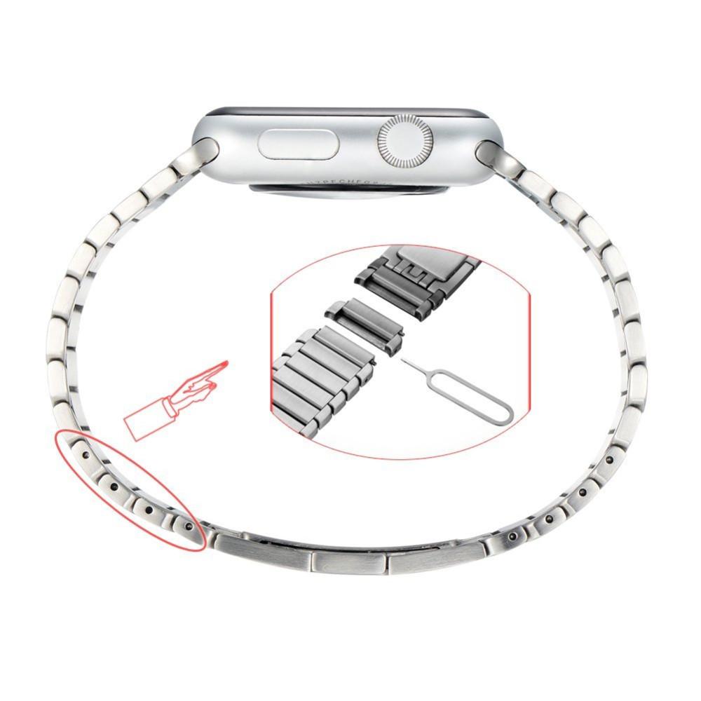 Из Нержавеющей Стали 316L Ссылка Браслет Смотреть Ремешок ремешок Замена Застежка Адаптер 100%, как Оригинал Пряжки для Apple Iwatch