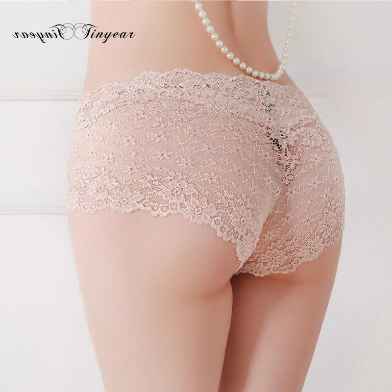2016 Free shipping Women Sheer lace Panties Hot sexy Calcinha Transparent Lady Underwear Seamless Panty briefs(China (Mainland))