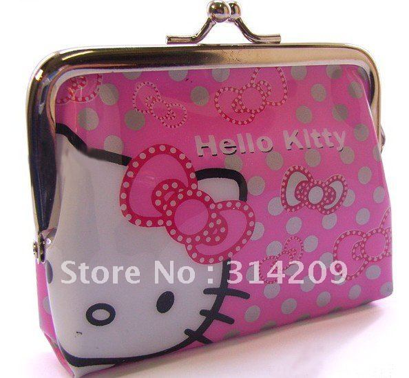 New! High Quality Hello Kitty Design Coin Purse, Key Holder, Small Wallet Pocket, Kids Gift,  10pcs/lot