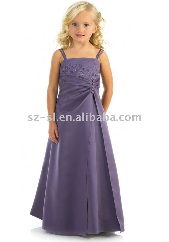 Beaded 2012 flower girl dress girls pageant dresses prom for Dresses for 10 year olds for a wedding