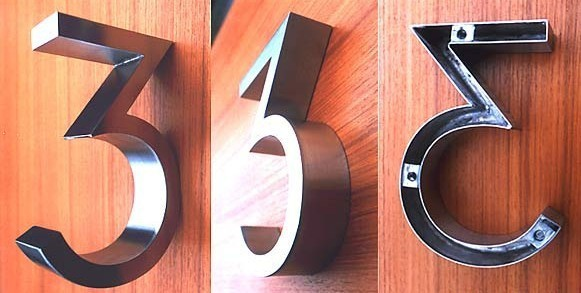 numero casa led number 2 Wiredrawing black gold sign letters and numbers for 3D h20cm