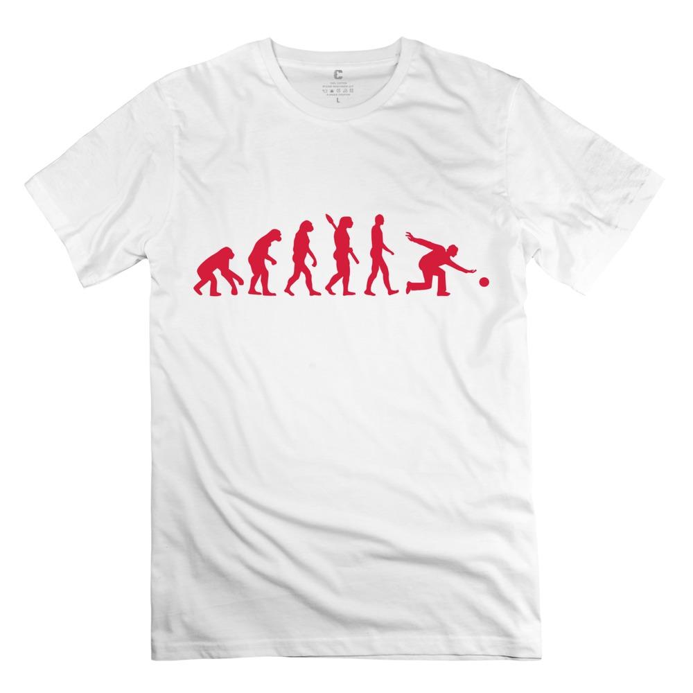 2015 latest men t shirt evolution bowling 100 cotton pre for Wholesale printing t shirts
