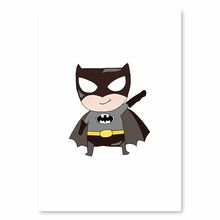 Cute Super Hero Canvas Painting Cartoon Batman Art Print Poster Wall Pictures For Kids Baby Room Home Decoration No Frame(China)