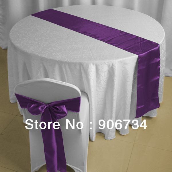 violet satin chemin de table de mariage dcoration supply l5 - Aliexpress Decoration Mariage