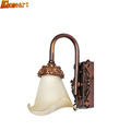 Vanilla lighting European style garden wrought iron wall lamp single head carved double American restaurant wall