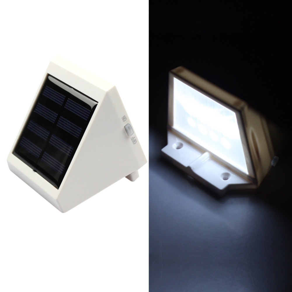 Goeswell 4 LED Light Solar Garden Waterproof Outdoor Garden Yard Wall Pathway Lamp White(China (Mainland))