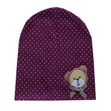 Casual Baby Hat Autumn Baby Beanie Dots Cartoon Bear Cotton Infant Cap Kids Clothing Accessories Newborn Cute Hat(China (Mainland))