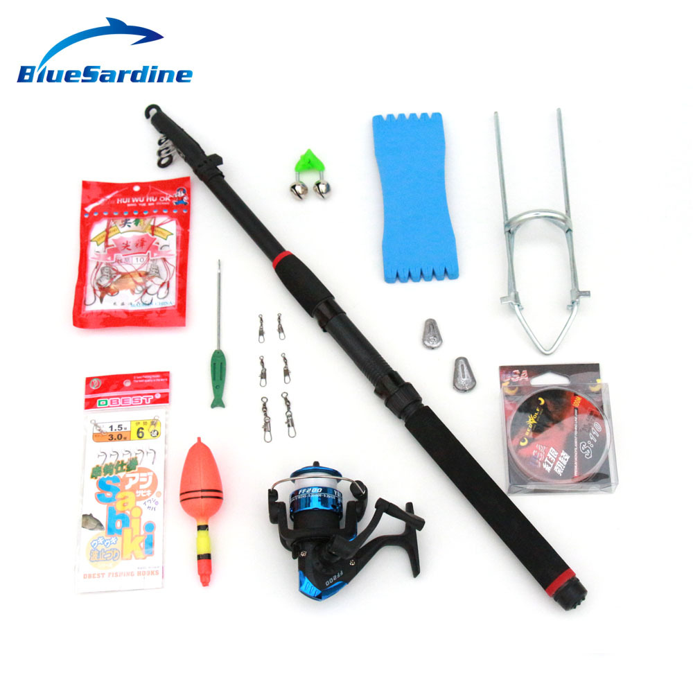 Fishing rods set fishing tackle set with 13 for Fishing rod accessories