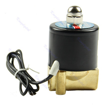 "F85 Free Shipping New Brass 12V DC 1/4"" Electric Solenoid Valve Water Air Fuels Gas Normal Closed(China (Mainland))"
