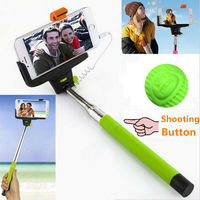 Free Shipping Extendable Handheld Monopod Audio Cable Wired Selfie Stick To Self Take Photos For IOS Android Smart Phone Selfi