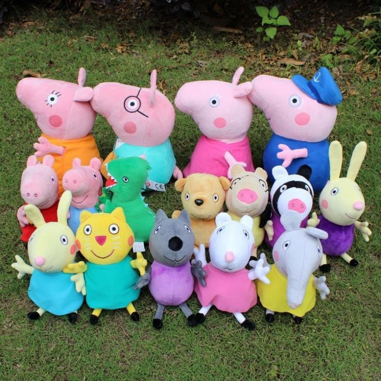 Brinquedos 16PCS/Lot Pepa Pig Whole Family Plush Toys High Quality Kids Cute Toddler Toys stuffed & plush animals(China (Mainland))