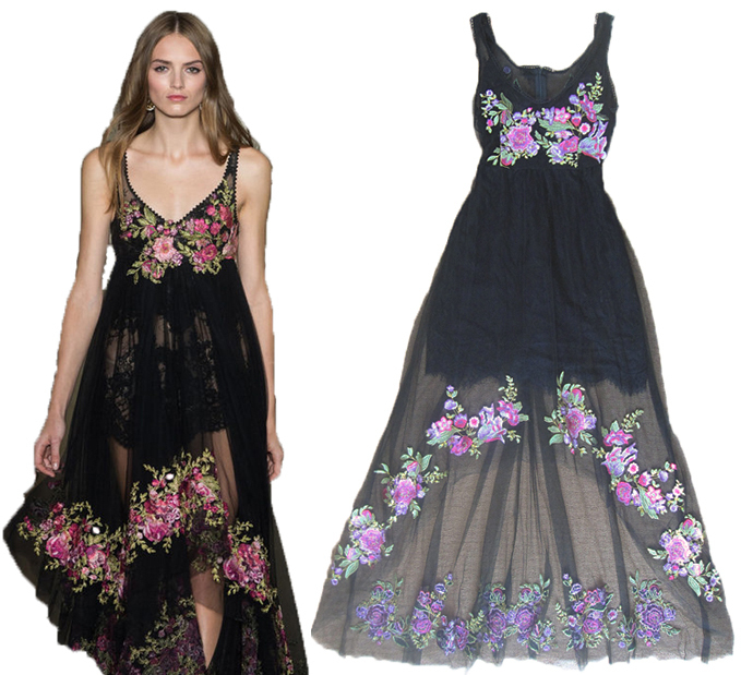High quality 2015 fashion designer runway maxi dress women for High couture clothing