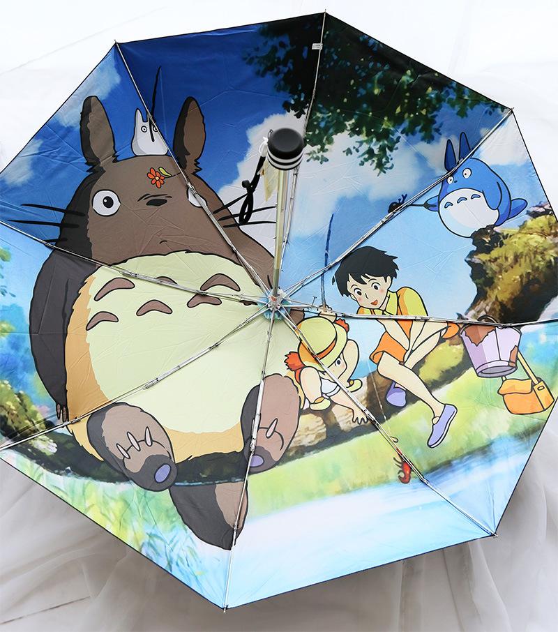 Пять Складной Зонтик Мини Тоторо Studio Ghibli Супер Свет Карандаш Зонтик Зонтик Зонтик Для Женщин Ladies