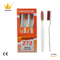12PCS lot Crown Wiizdom Toothbrush Oral Care Extra Hard Bristles Specially Designed For Smokers High Quality