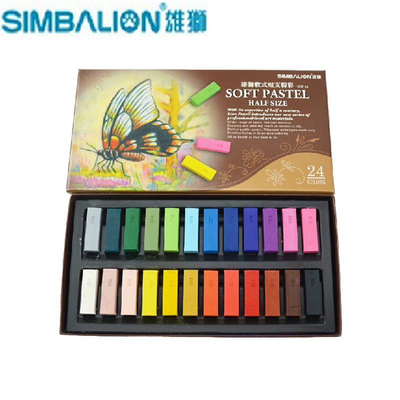 24/48 ColorsSet Taiwan Simbalion Soft Pastel Painting Crayons Art Drawing Set Chalk Hair Color Crayon Brush Stationery<br><br>Aliexpress
